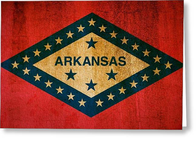 Little Rock Arkansas Greeting Cards - Arkansas State Flag Greeting Card by Dan Sproul