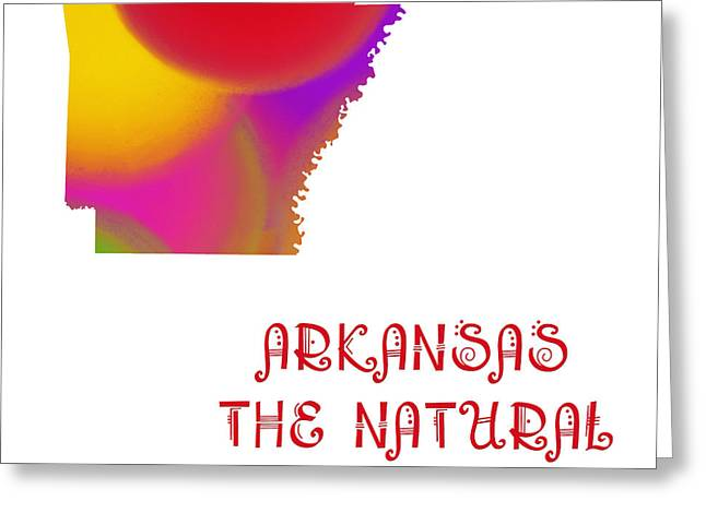 Arkansas Greeting Cards - Arkansas State Map Collection 2 Greeting Card by Andee Design