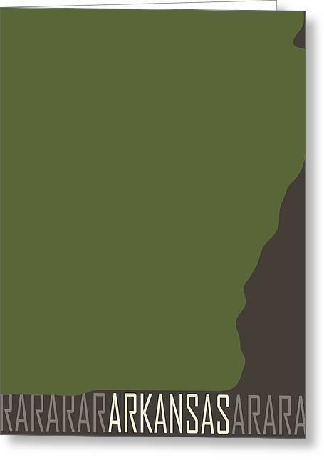 Arkansas State Modern Greeting Card by Flo Karp