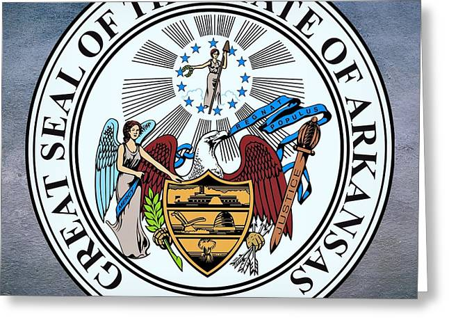 Arkansas State Seal Greeting Card by Movie Poster Prints