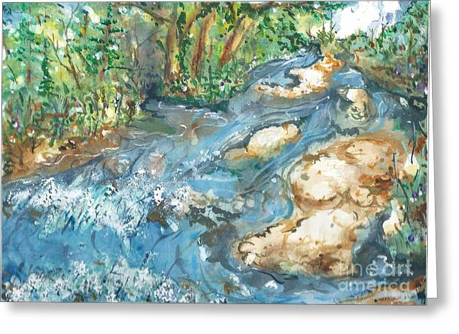 Arkansas Paintings Greeting Cards - Arkansas Stream Greeting Card by Reed Novotny