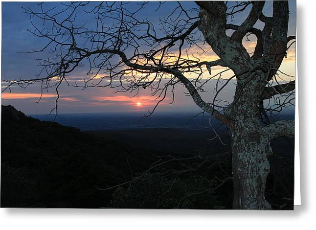 Mt Magazine Greeting Cards - Arkansas Sunset II Greeting Card by John Roberts