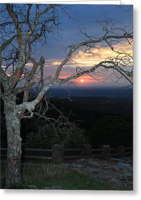 Mt Magazine Greeting Cards - Arkansas Sunset Greeting Card by John Roberts