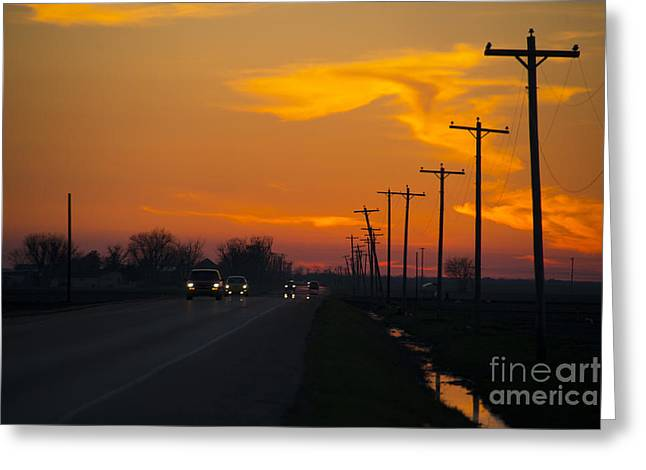 Arkansas Greeting Cards - Arkansas sunset  Greeting Card by Rob Hawkins