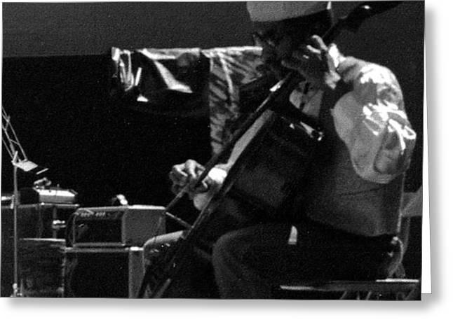 Arkestra Cellist UC Davis Quad Greeting Card by Lee  Santa