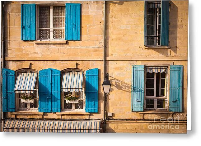 Arles Greeting Cards - Arles Windows Greeting Card by Inge Johnsson