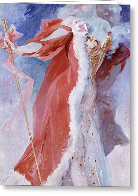 Seductress Greeting Cards - Arlette Dorgere Greeting Card by Jules Cheret