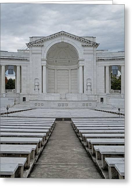 Arlington Greeting Cards - Arlington Amphitheater Greeting Card by Susan Candelario