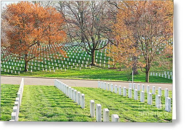 Arlington Greeting Cards - Arlington Cemetery 1160 Greeting Card by Jack Schultz