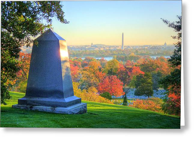 Marine Corp Greeting Cards - Arlington  Greeting Card by JC Findley