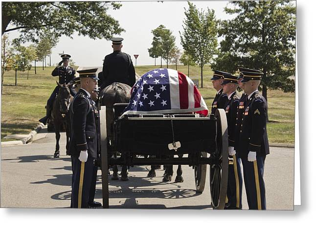Dead Soldier Greeting Cards - Arlington Greeting Card by Kelly Howe