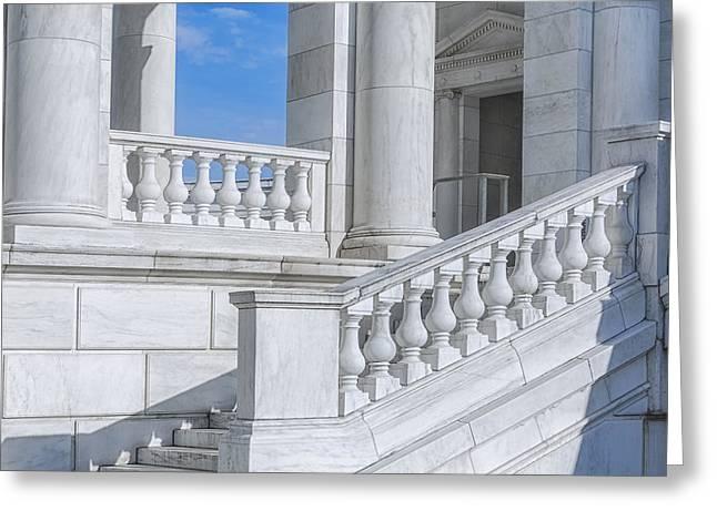 Washington Dc Greeting Cards - Arlington Memorial Amphitheater  Greeting Card by Susan Candelario