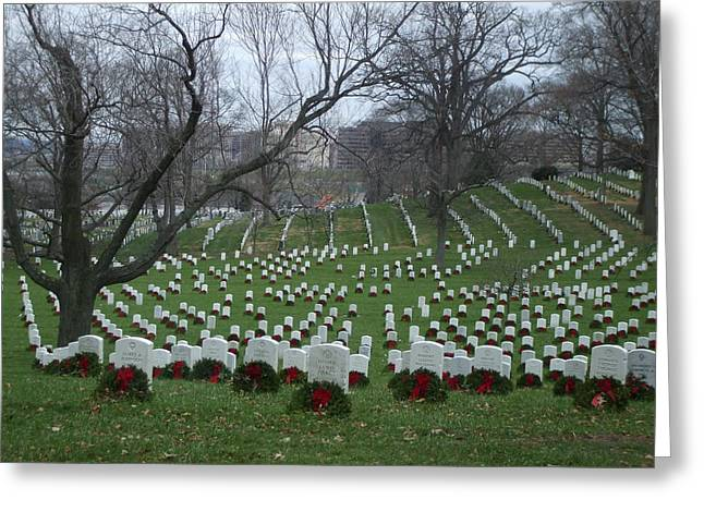 Final Resting Place Greeting Cards - Arlington National Cemetary Greeting Card by Lisa Collinsworth