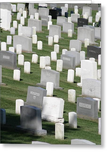 Stones Greeting Cards - Arlington National Cemetery - 12122 Greeting Card by DC Photographer