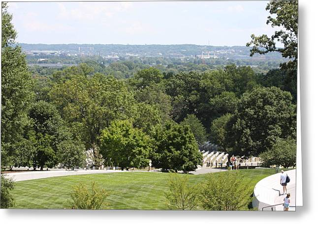 Tombstones Greeting Cards - Arlington National Cemetery - 121234 Greeting Card by DC Photographer