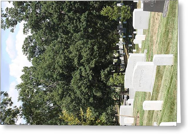Tombstones Greeting Cards - Arlington National Cemetery - 121237 Greeting Card by DC Photographer
