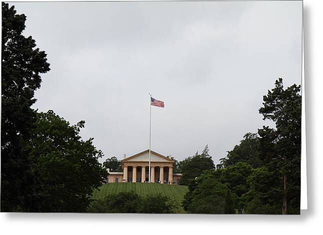 Lee Greeting Cards - Arlington National Cemetery - Arlington House - 01131 Greeting Card by DC Photographer