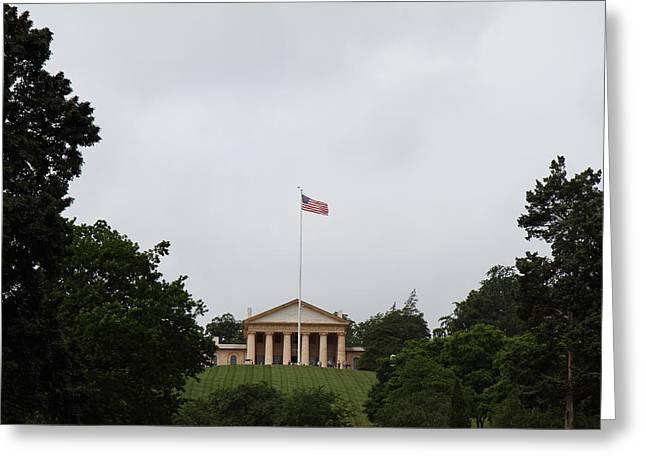 Arlington National Cemetery - Arlington House - 01131 Greeting Card by DC Photographer