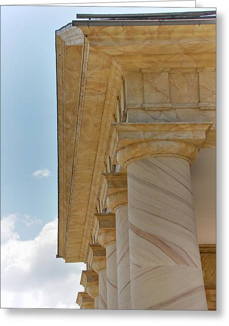 Tombstones Greeting Cards - Arlington National Cemetery - Arlington House - 12121 Greeting Card by DC Photographer