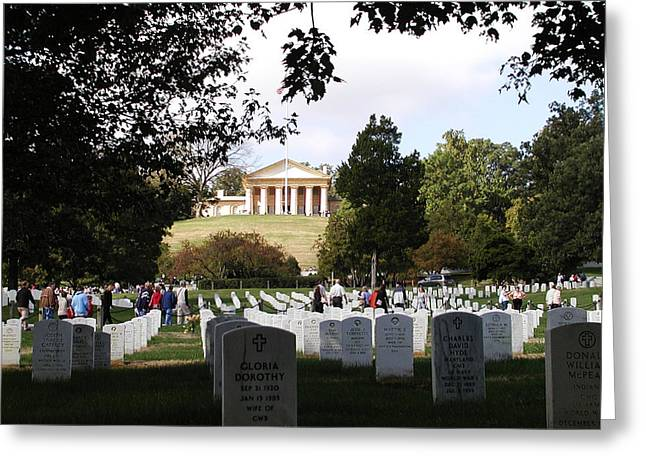 Arlington Greeting Cards - Arlington National Cemetery Greeting Card by Bill Cannon