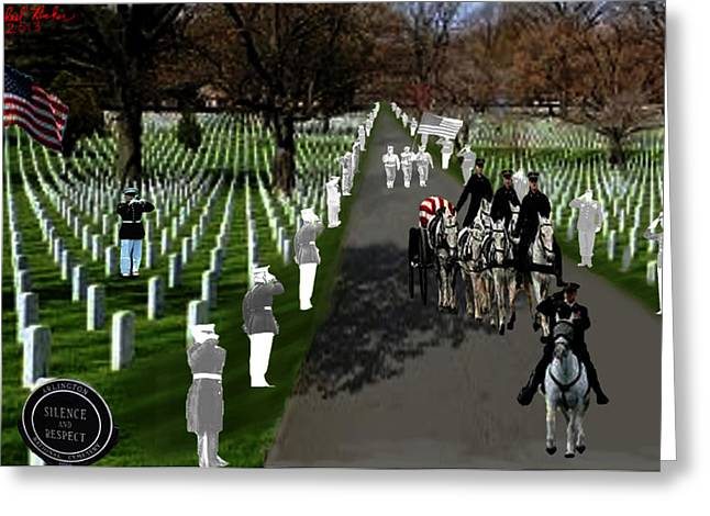 Arlington National Cemetery Greeting Card by Michael Rucker