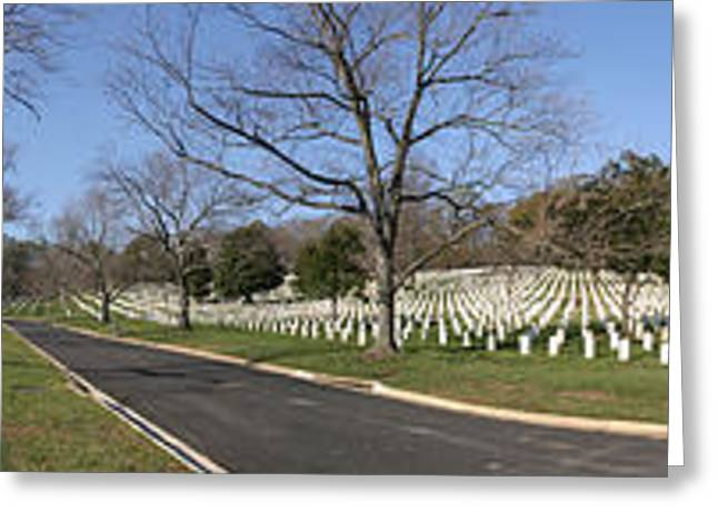 Arlington National Cemetery Panorama 2 Greeting Card by Metro DC Photography