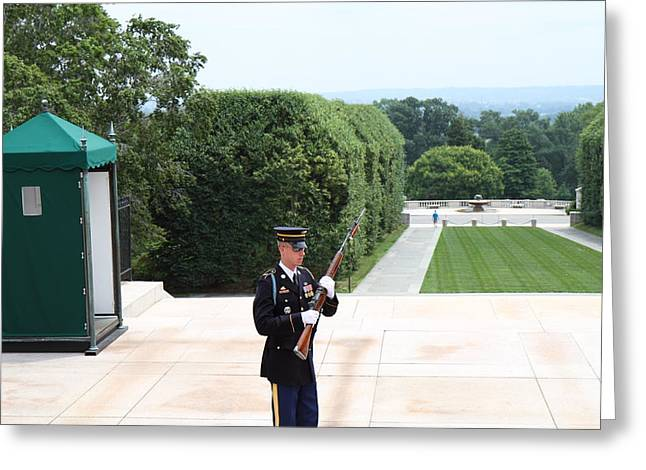 Tombstones Greeting Cards - Arlington National Cemetery - Tomb of the Unknown Soldier - 01132 Greeting Card by DC Photographer