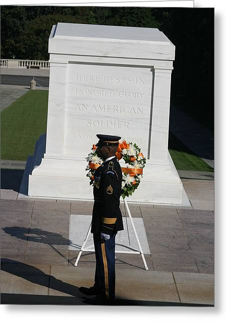Arlington National Cemetery - Tomb Of The Unknown Soldier - 121212 Greeting Card by DC Photographer