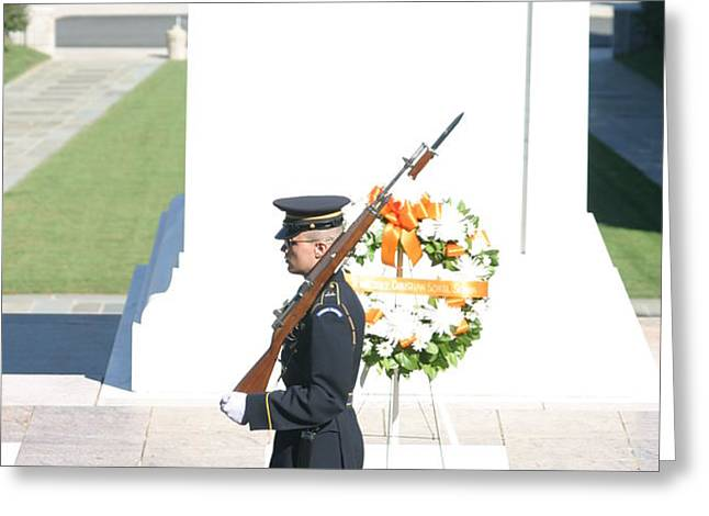 Arlington National Cemetery - Tomb of the Unknown Soldier - 121214 Greeting Card by DC Photographer