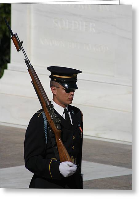 Soldiers Greeting Cards - Arlington National Cemetery - Tomb of the Unknown Soldier - 121216 Greeting Card by DC Photographer