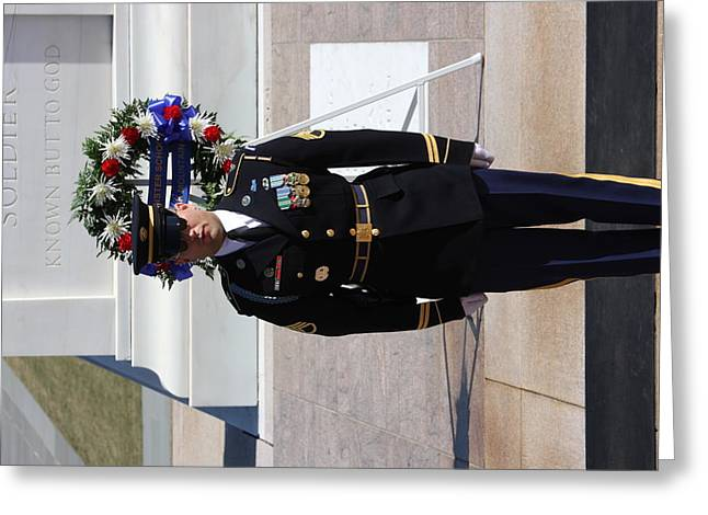 Stones Greeting Cards - Arlington National Cemetery - Tomb of the Unknown Soldier - 121217 Greeting Card by DC Photographer