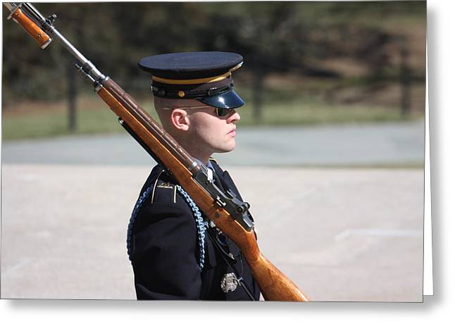 Arlington National Cemetery - Tomb Of The Unknown Soldier - 121219 Greeting Card by DC Photographer