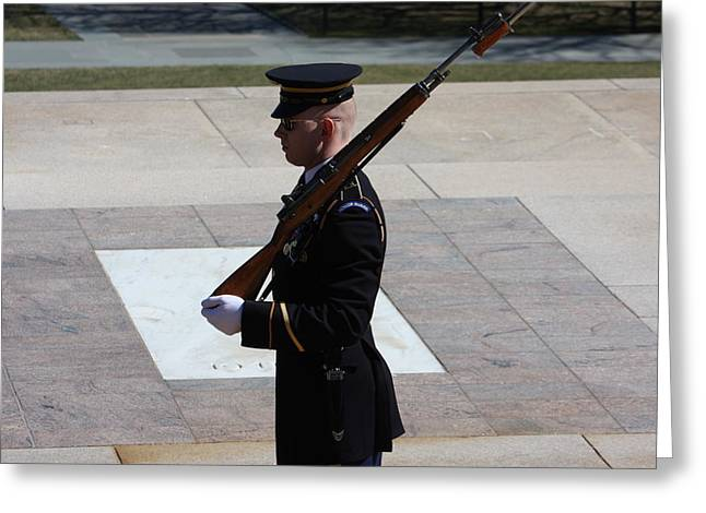Tombs Greeting Cards - Arlington National Cemetery - Tomb of the Unknown Soldier - 121225 Greeting Card by DC Photographer