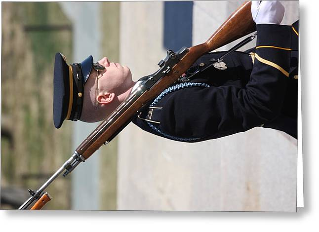 Grave Greeting Cards - Arlington National Cemetery - Tomb of the Unknown Soldier - 121227 Greeting Card by DC Photographer