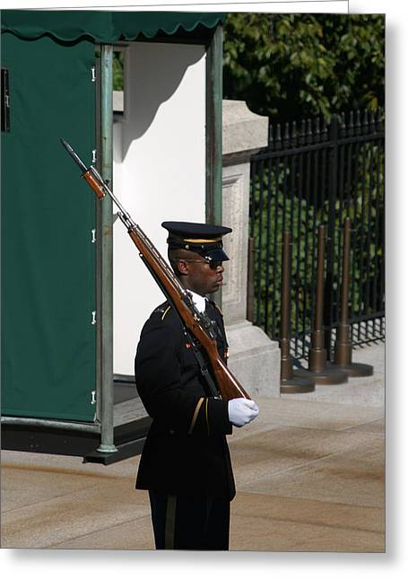 Unknown Greeting Cards - Arlington National Cemetery - Tomb of the Unknown Soldier - 12123 Greeting Card by DC Photographer