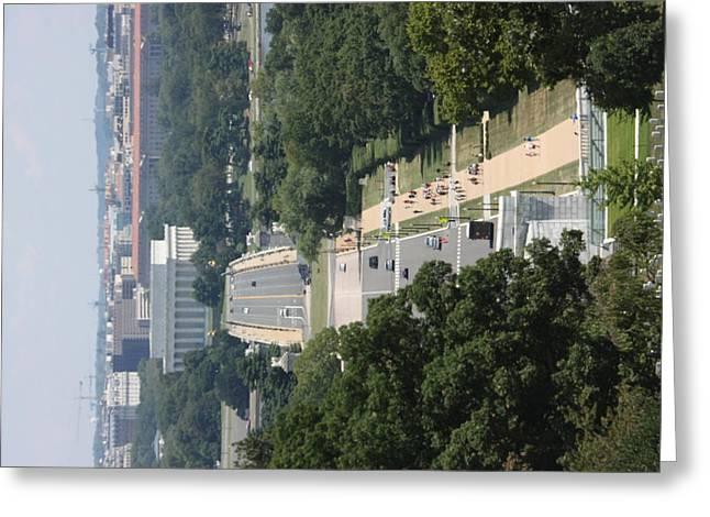 Brave Greeting Cards - Arlington National Cemetery - View From Arlington House - 12125 Greeting Card by DC Photographer