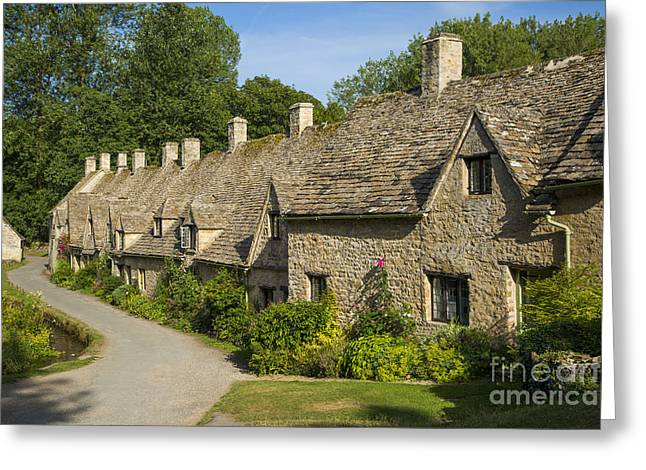 Arlington Greeting Cards - Arlington Row - Cotswolds Greeting Card by Brian Jannsen