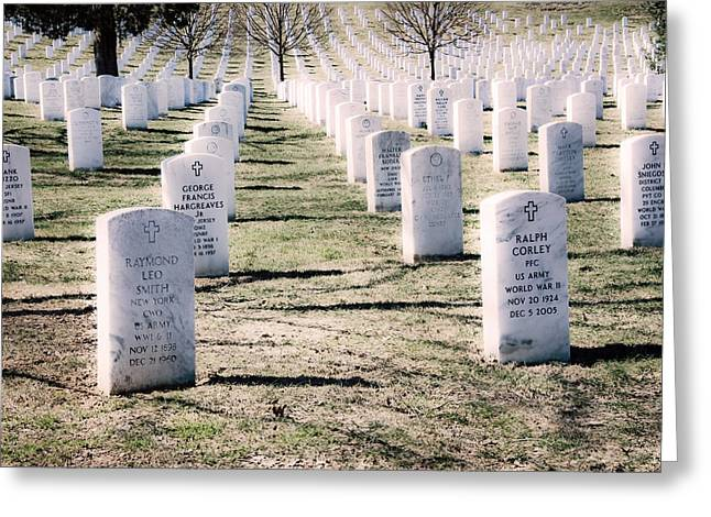 Soldiers National Cemetery Digital Art Greeting Cards - Arlington National Cemetery Graves Greeting Card by Vizual Studio