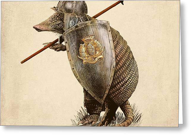 Armadillo Greeting Card by Eric Fan