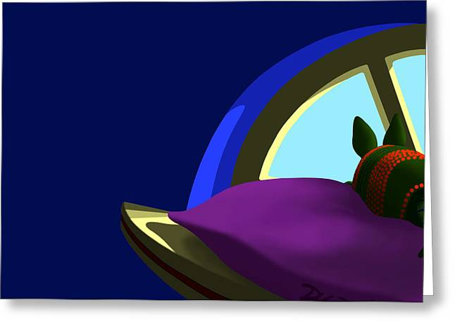 Tom Dickson Digital Art Greeting Cards - Armadillo On A Pillow Greeting Card by Tom Dickson