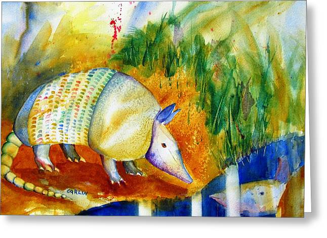 Shell Texture Greeting Cards - Armadillo Reflections Greeting Card by Carlin Blahnik