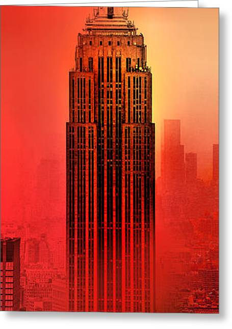 Center City Greeting Cards - Armageddon Greeting Card by Az Jackson