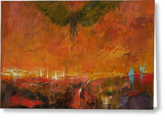 Armageddon Greeting Card by Michael Creese