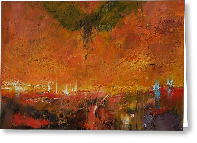Surrealist Greeting Cards - Armageddon Greeting Card by Michael Creese