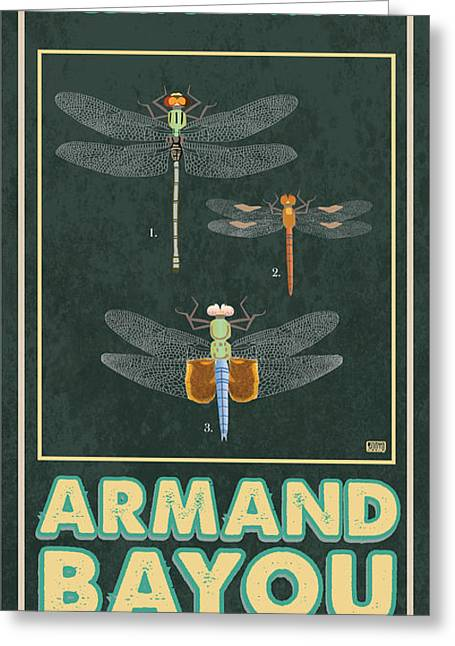 Nature Center Greeting Cards - Armand Bayou Dragonfly Greeting Card by Jim Sanders