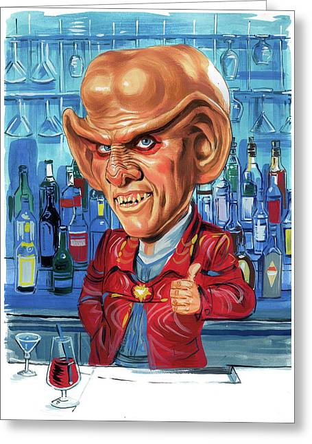Quark Greeting Cards - Armin Shimerman as Quark Greeting Card by Art