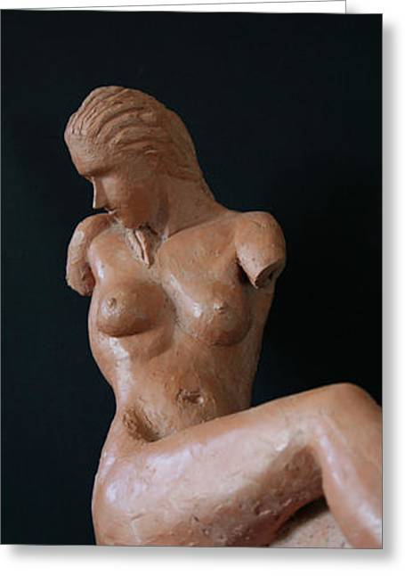 Seated Sculptures Greeting Cards - Armless - front - study Greeting Card by Flow Fitzgerald