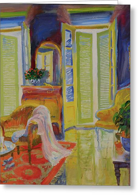 French Windows Greeting Cards - Armoire, 20078 Oil On Board Greeting Card by William Ireland