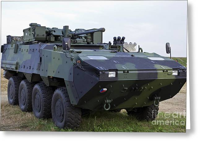 Hradec Greeting Cards - Armored Vehicle Of The Czech Army Greeting Card by Timm Ziegenthaler