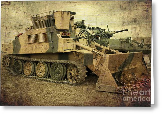 Army Tank Greeting Cards - Armoured Power  Greeting Card by Rob Hawkins
